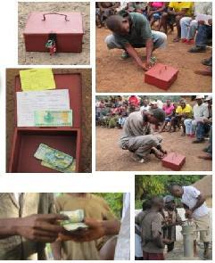 Community organisation to save the users' contribution : the cash box