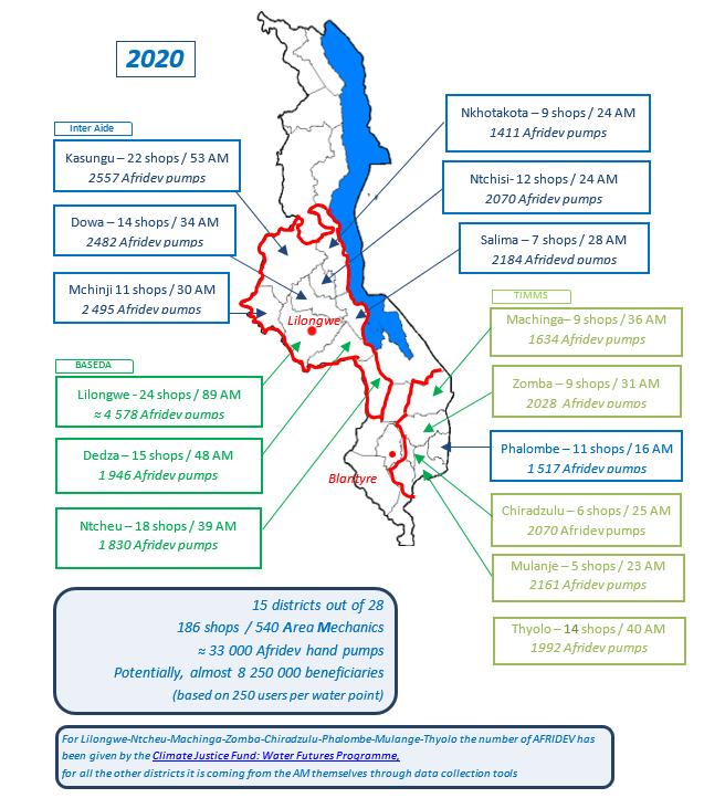 Map Malawi maintenance 2020
